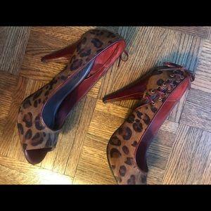 Fergie Cheetah-print pumps